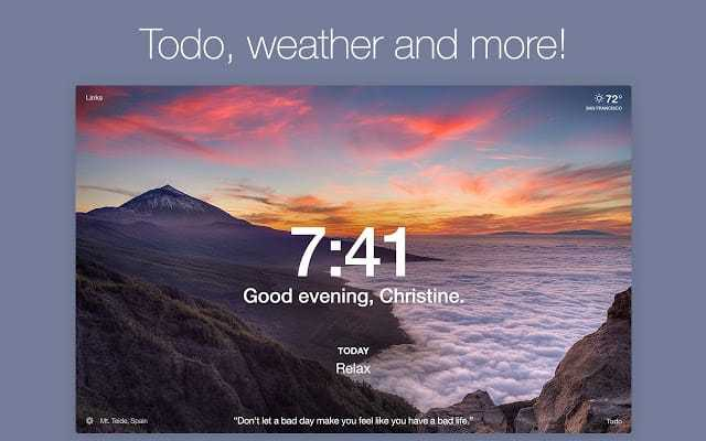 Todo, weather and more!